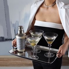Entertaining brings out our fancy side. Dirty martini anyone?
