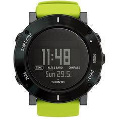 Suunto Men Core Crush Digital Outdoor Watch (1.345 BRL) ❤ liked on Polyvore featuring men's fashion, men's jewelry, men's watches, lime green, mens watches, mens digital watches and mens watches jewelry