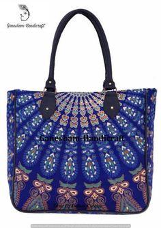 415476473d Indian Handmade Mandala Boho Hobo Cotton Messenger Bags Top Handle Tote Bags