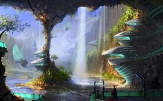 fictional fantasy land | sci fi science fiction fantasy surreal art artistic paintings cg ...