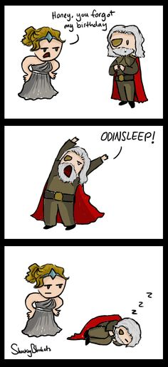 Yeah... That's basically what he does... even in the original myths... The Odinsleep by ~shockingblankets on deviantART