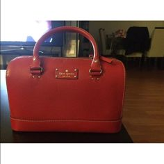 Kate spade handbad I just use 1 time the handbag just not big fun for red color but its very cute coming with dust bag kate spade Bags Shoulder Bags
