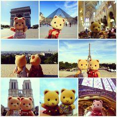 The Sylvanian Bears visiting Paris! #SylvanianFamilies #SylvanianSummer