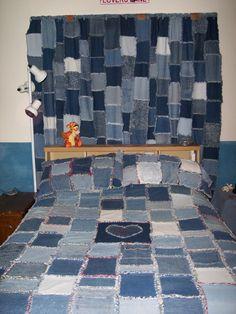 blaue Taschen Denim Jeans Dusche Vorhang Badezimmer Dekor Stoff ... : rag quilt curtains - Adamdwight.com