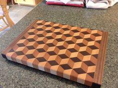 Tumbling block cutting board - by jasondain @ LumberJocks.com ~ woodworking community #FineWoodworking