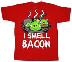 Angry Birds I Smell Bacon Mens Short Sleeve Shirt