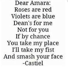 castiel, dean winchester, destiel, funny, supernatural, the darkness, Amara, season 11