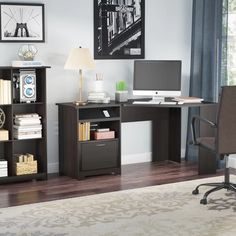 Red Barrel Studio Hillsdale L-Shape Desk Home Office Decor Ideas // Office Decor On A Budget Furniture, L Shaped Desk, Home Office Furniture, Diy Computer Desk, Home, Hillsdale, Corner Desk, Office Desk, Desk