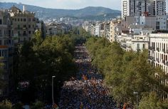 Hundreds of thousands of people took to the streets across Catalonia on Sunday…