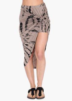 Laguna Beach Maxi Skirt in Brown   Necessary Clothing