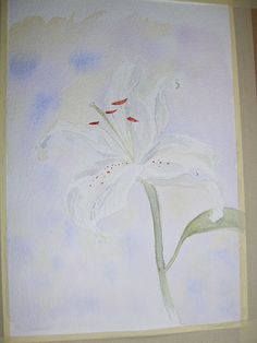 Couldn't find any flowers in my garden as spring was so late in springing - luckily someone had bought the art teacher a bunch of lilies. Creeps.     Tips on how to Buy artwork  more at AWDTCOM