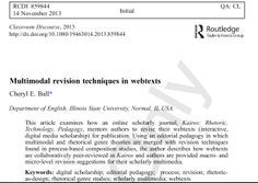 Multimodal Revision techniques in webtexts