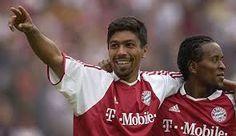 Élber e Zé Roberto, ídolos no Bayern Munique.