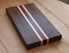 Teds Woodworking® - Woodworking Plans & Projects With Videos - Custom Carpentry Diy Cutting Board, Wood Cutting Boards, Chopping Boards, Woodworking Plans, Woodworking Projects, Purple Heart Wood, Dark Wood, Dark Walnut, Wood Design