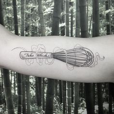 "A reminder to "" Take Whisks "" for @nikitaspf ✌️ #tattoo #whisk #takerisks #ifnotforgravity @ninjaflowertattoo"