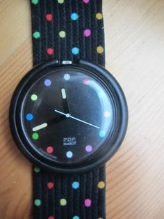 Original 90er oder 80er Swatch Pop Art Uhr Punkte Polka Dots Bunt