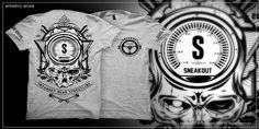 """SNEAKOUT!"" t-shirt design by xTHEMOBx"