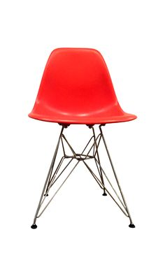Eames Eiffel Chair Molded Plastic Wire-Base on Chairish.com