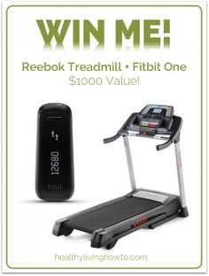 Healthy Living How To January Give Away - Win a Treadmill AND a Fitbit! healthylivinghowt...
