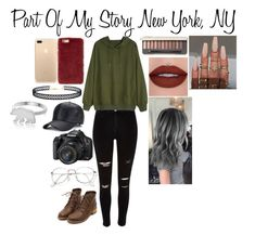 """""""Part Of My Story New York, NY"""" by imthelifeoftheparty ❤ liked on Polyvore featuring George & Laurel, River Island, Missguided, LULUS and Equipment"""