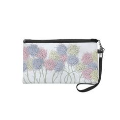 Pastel Cotton Ball Flower Scene Wristlet.  $44.95