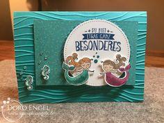 Card, Bermuda, Stampin Up, Magical Day, Stampin Blends, embossing folder seaside, Myths & Magic Specialty Designer Series Paper