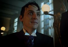 Oswald pleading with Theo for the release of his mother. Gotham Season 2, Robin, Tv Shows, Batman, Penguin, Books, Movies, Fictional Characters, Lord