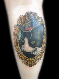 TattooNOW : Tattoos : Femine : Fancy cat, in a fancy hat