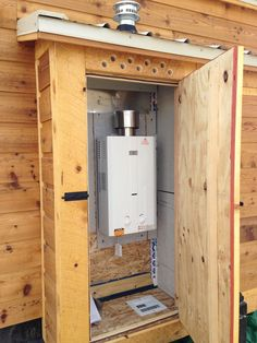 venting for outdoor water heater Tiny House Tutorials and