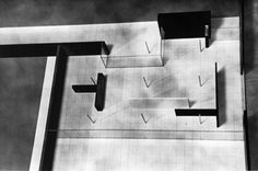 Mies van der Rohe, Group of Three Court Houses, Model, 1931-1940