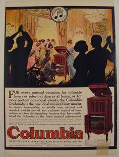 1915 Columbia Grafonola Mignonette Party Dance at Home Ad | eBay
