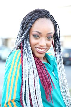 JANET COLLECTION #BOXBRAID #POETICJUSTICE #STREETBRAIDFASHION #FASHIONBRAID #MIXEDCOLORHAIR #OMBREBRAID