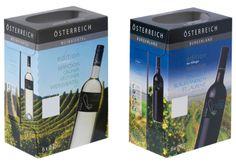 #Offsetkaschierte #Weinkartons • #Verkaufsverpackung für 6 Flaschen Rot- oder Weißwein. • 4-färbig #Offsetbedruckt. • #T4P, #Getränkeverpackungen Selection, Card Stock, Flasks, Wine, Products, Red