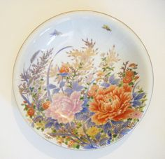 Vintage Oriental Floral Serving Bowl Absolutely Stunning by parkledge on Etsy