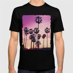 Sunset Palms Purple Tropical Sky T-shirt by staypositivedesign Sky T, Cool T Shirts, Purple, Mens Tops, Stuff To Buy, Fashion, Losing Weight, Moda, Fashion Styles