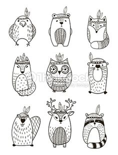 Vektorgrafik : Tribal Animal collection - Illustration