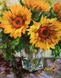 """""""Blown Away Sunflower Bouquet"""" - by Nancy Medina"""