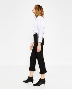 Image 3 of FRILLED TROUSERS from Zara