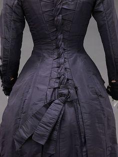 Dress Designer: Mrs. F. M. Carroll (American) Date: 1877 Culture: American Medium: silk, mother-of-pearl