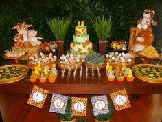 Fiestas Safari Theme Birthday, 1st Boy Birthday, Boy Birthday Parties, Jungle Party, Safari Party, Safari Candy Table, Baby Shower Themes, Baby Boy Shower, Second Birthday Ideas