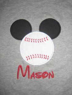 Mickey baseball shirt