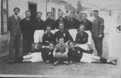 Nýřany, fotbalisté, okolo roku 1930.