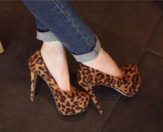 leopard animal print heels
