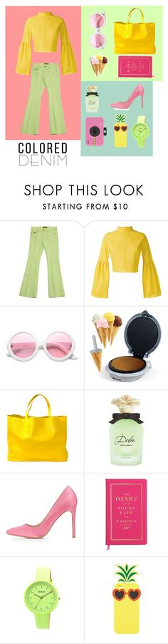 """""""A colorful life"""" by rahmadania ❤ liked on Polyvore featuring Roberto Cavalli, Daizy Shely, ZeroUV, Chef Buddy, CÉLINE, Dolce&Gabbana, Charlotte Russe, Kate Spade, Crayo and Polaroid"""