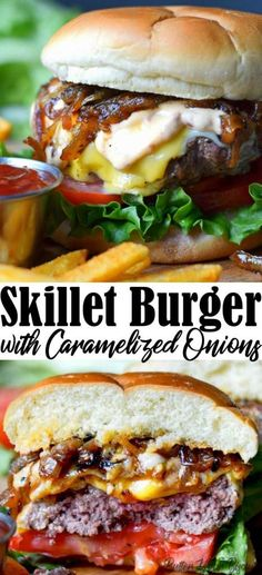 This skillet burger is the perfect weeknight meal. Only uses a few ingredients this burger is juicy and flavorful.