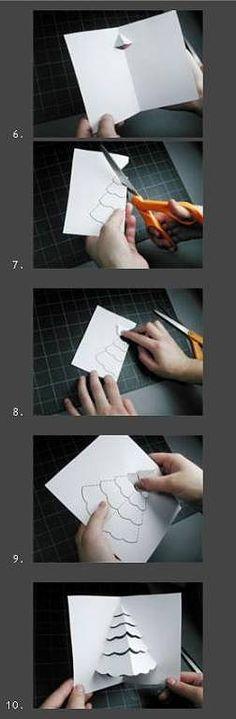 ----- Tarjeta navideña árbol 3D sencillísimo ----- | Aprender manualidades es facilisimo.com