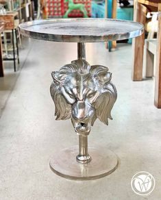 """Beistelltisch """"Silver Lion"""" Home Living, Dining Table, Furniture, Home Decor, Vintage Metal, Candle Holders, Objects, Home Decor Accessories, Homemade Home Decor"""