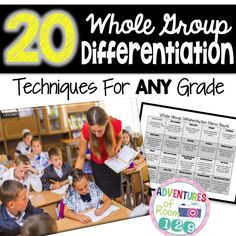 "Adventures of Room 20 Whole Group Differentiation Techniques for ANY Grade! ""Differentiation in the Elementary Grades"" (pg. This resource talks about ways to use Depth of Knowledge and the importance of it. Differentiation Strategies, Differentiation In The Classroom, Differentiated Instruction, Teaching Strategies, Teaching Tips, Flipped Classroom, Teaching Techniques, Teaching Kindergarten, Student Teaching"