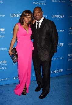 Holly Robinson-Peete and Rodney Peete posed together at the 6th Biennial UNICEF Ball.