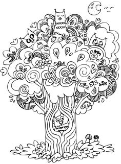 Cute Owls From Volume 1 In Our Doodle Coloring Book Series